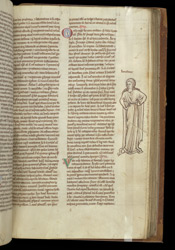 Marginal Drawing Of A Woman, In Roger of Salisbury's 'Polycraticus'